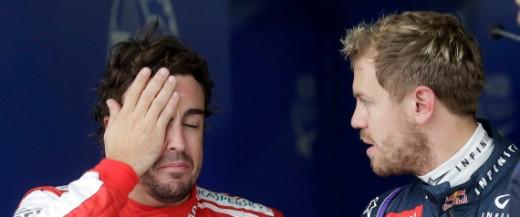Sebastian Vettel, Fernando Alonso