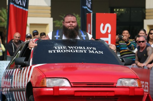 1. Robert Oberst carrying a car