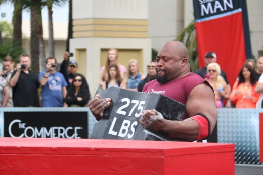10. Mark Felix lifting a 275lb anvil